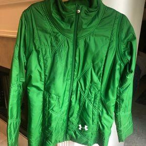 UA jacket with zip off sleeves. Beautiful green!
